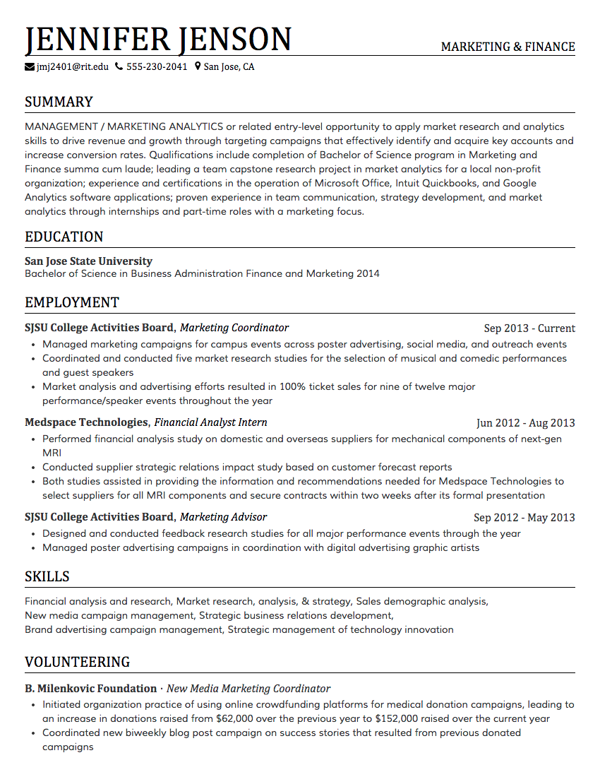 creddle - Best Font For Resumes