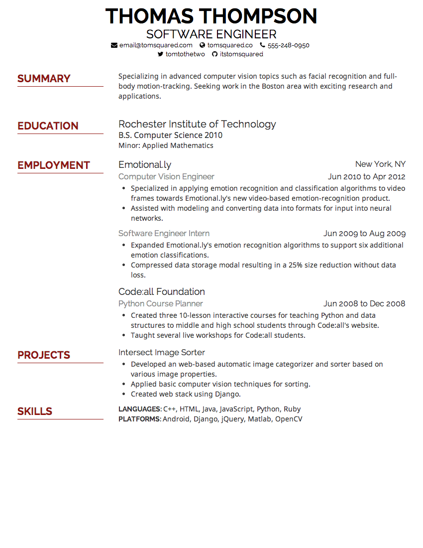 resume font format - Resume Font Size Should Be