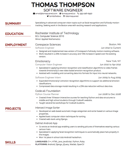 resume size font - Resume Font Size Should Be
