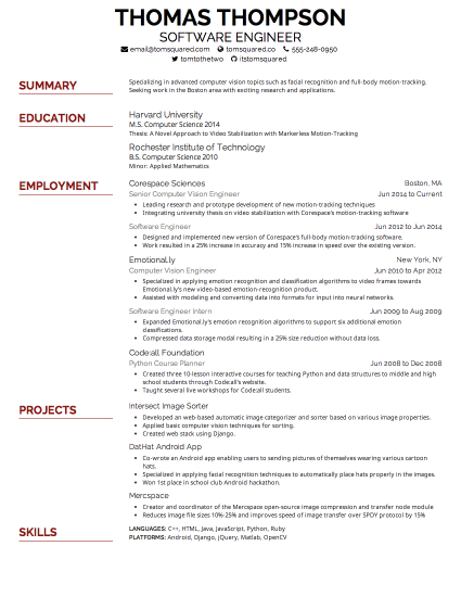 Add And Change Information And Your Creddle Résumé Will Change With You,  While Keeping Relative Font Sizes Consistent. Save Time From Constantly  Tweaking ... Throughout What Font For Resume